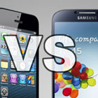 Comparatif Galaxy S4 vs iPhone 5