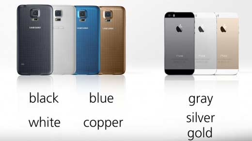 galaxy-s5-vs-iphone-5s-couleurs