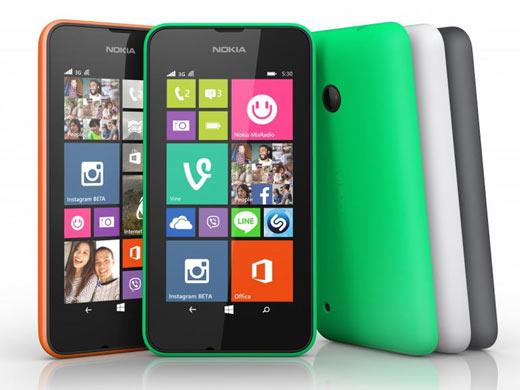 nokia lumia 530 avec windows phone 8 1. Black Bedroom Furniture Sets. Home Design Ideas