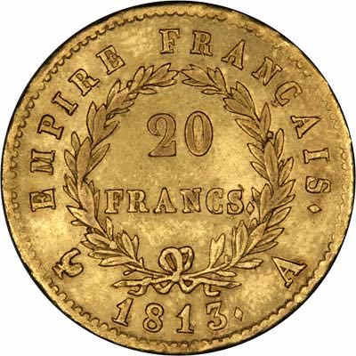 napoleon-20-francs-or-piece-française-collection-numismatique-1813-pile